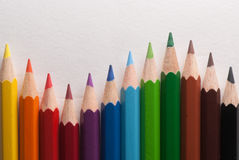 χρωματισμένα κραγιόνια Στοκ εικόνες με δικαίωμα ελεύθερης χρήσης