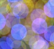 Χρωματισμένα κρητιδογραφία Χριστούγεννα ελαφρύ Bokeh Στοκ Φωτογραφίες