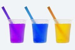 Χρωματισμένα κρύα ποτά Στοκ εικόνα με δικαίωμα ελεύθερης χρήσης