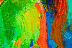 Χρωματισμένα κτυπήματα χρωμάτων αφηρημένη ανασκόπηση τέχνης Λεπτομέρεια ενός έργου της τέχνης Σύγχρονη τέχνη ζωηρόχρωμη σύσταση π Στοκ Φωτογραφίες