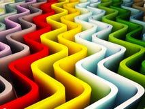 χρωματισμένα κύματα διανυσματική απεικόνιση