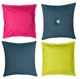Χρωματισμένα μαξιλάρια στο άσπρο υπόβαθρο Στοκ Εικόνες