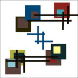 Χρωματισμένα μεγάλα τετράγωνα Στοκ φωτογραφία με δικαίωμα ελεύθερης χρήσης