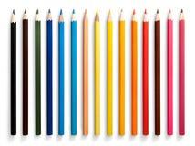 Χρωματισμένα μολύβια καθορισμένα απομονωμένα στο άσπρο υπόβαθρο Στοκ φωτογραφία με δικαίωμα ελεύθερης χρήσης
