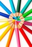 χρωματισμένα μολύβια μερών στοκ φωτογραφίες με δικαίωμα ελεύθερης χρήσης