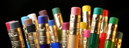 χρωματισμένα μολύβια Στοκ Φωτογραφίες