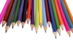 χρωματισμένα μολύβια Στοκ Εικόνα