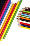 χρωματισμένα μολύβια Στοκ φωτογραφία με δικαίωμα ελεύθερης χρήσης