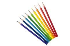 χρωματισμένα μολύβια μερι& Στοκ Εικόνα