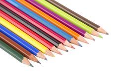 Χρωματισμένα μολύβια που απομονώνονται στοκ φωτογραφία με δικαίωμα ελεύθερης χρήσης