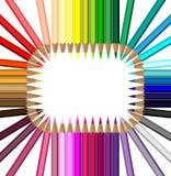 χρωματισμένα μολύβια που &t Στοκ φωτογραφία με δικαίωμα ελεύθερης χρήσης