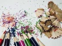 χρωματισμένα μολύβια που &t Στοκ Φωτογραφίες