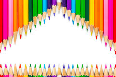 χρωματισμένα μολύβια στην άσπρη ανασκόπηση Στοκ Εικόνα