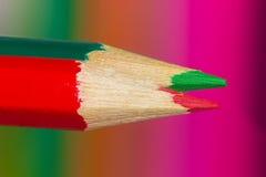 χρωματισμένα μολύβια δύο στοκ φωτογραφία με δικαίωμα ελεύθερης χρήσης