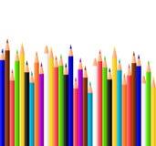 χρωματισμένα μολύβια ελεύθερη απεικόνιση δικαιώματος