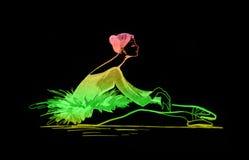χρωματισμένα μπαλέτο σχέδι&a Στοκ Φωτογραφία