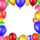 Χρωματισμένα μπαλόνια στο λευκό Στοκ εικόνες με δικαίωμα ελεύθερης χρήσης