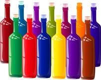 Χρωματισμένα μπουκάλια Στοκ φωτογραφίες με δικαίωμα ελεύθερης χρήσης