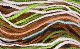 Χρωματισμένα νήματα μαλλιού Στοκ φωτογραφία με δικαίωμα ελεύθερης χρήσης