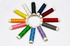 χρωματισμένα νήματα Στοκ Φωτογραφίες