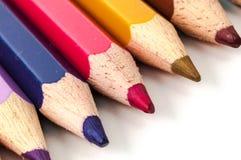 Χρωματισμένα ξύλινα μολύβια Στοκ φωτογραφία με δικαίωμα ελεύθερης χρήσης
