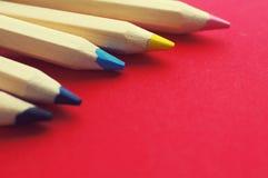 Χρωματισμένα ξύλινα μολύβια Στοκ Εικόνα