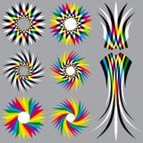 Χρωματισμένα ουράνιο τόξο αντικείμενα Στοκ Φωτογραφία