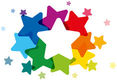 Χρωματισμένα ουράνιο τόξο αστέρια Στοκ Εικόνες