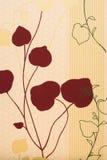 Χρωματισμένα λουλούδια και φύλλα Στοκ Φωτογραφία