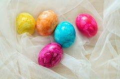 Χρωματισμένα Πάσχα αυγά Στοκ εικόνα με δικαίωμα ελεύθερης χρήσης