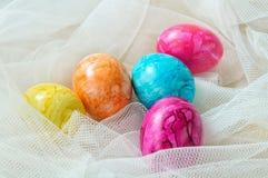 Χρωματισμένα Πάσχα αυγά Στοκ Εικόνες