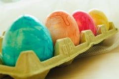 Χρωματισμένα Πάσχα αυγά Στοκ Εικόνα