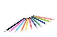 χρωματισμένα παιδιά μολύβι& Στοκ φωτογραφίες με δικαίωμα ελεύθερης χρήσης