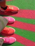χρωματισμένα παπούτσια Στοκ Εικόνες