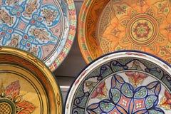 Χρωματισμένα πιάτα Στοκ Φωτογραφία