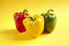 χρωματισμένα πιπέρια Στοκ εικόνες με δικαίωμα ελεύθερης χρήσης