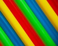 χρωματισμένα πολυ λωρίδες Στοκ φωτογραφία με δικαίωμα ελεύθερης χρήσης