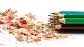 χρωματισμένα πολυ μολύβι&a Στοκ Εικόνα