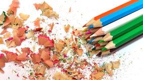 χρωματισμένα πολυ μολύβι&a Στοκ Φωτογραφία