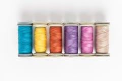 χρωματισμένα πολυ νήματα στοκ εικόνα με δικαίωμα ελεύθερης χρήσης