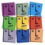 χρωματισμένα πρόσωπα Απεικόνιση αποθεμάτων