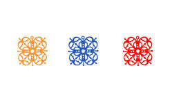 χρωματισμένα πρότυπα Στοκ εικόνα με δικαίωμα ελεύθερης χρήσης