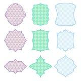 9 χρωματισμένα πλαίσια απεικόνιση αποθεμάτων