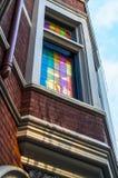 Χρωματισμένα πλακάκια παραθύρων στοκ εικόνες