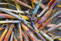 χρωματισμένα ραβδιά στοκ φωτογραφία με δικαίωμα ελεύθερης χρήσης