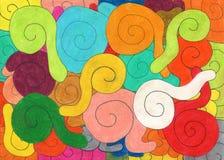 χρωματισμένα σαλιγκάρια Στοκ Εικόνες