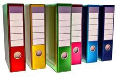 Χρωματισμένα σημαντικά έγγραφα καταστημάτων γραμματοθηκών Στοκ Φωτογραφίες