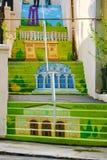 Χρωματισμένα σκαλοπάτια οδών στοκ φωτογραφία