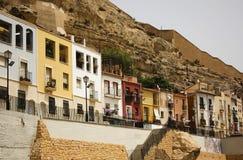 Χρωματισμένα σπίτια Ισπανία Στοκ Εικόνα