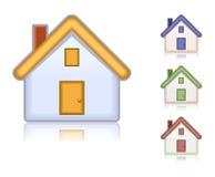 χρωματισμένα σπίτια που τίθ Στοκ φωτογραφία με δικαίωμα ελεύθερης χρήσης